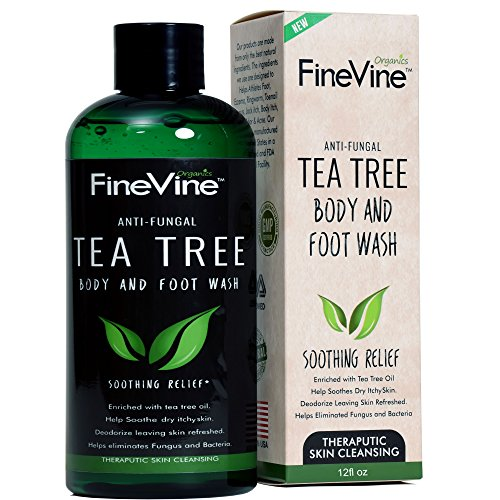 Antifungal Tea Tree Oil Body Wash - Made in USA - Helps Treat Eczema,  Ringworm, Body Odor, Jock Itch, Acne, Toenail Fungus & Athlete Foot - Best